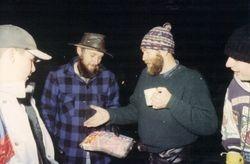 1994 Rob Edgar's 40th birthday cake, presented by Henning