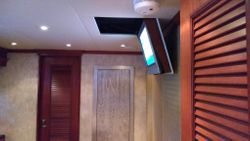 Yacht drop down TV
