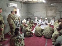 meeting with elders in afghanistan