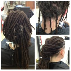 Unruley Dread wrapped with Human hair