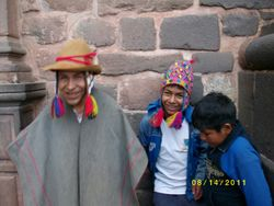 Mariano, our Shaman from the Hills and his boys.