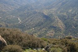 Looking down into Kern Canyon
