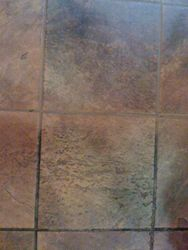 Mall store tile half cleaned