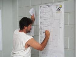 Referee Ariel Guerrero at work