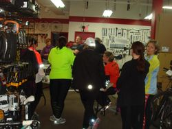 Tire change workshop at Rock & Road Cycle store
