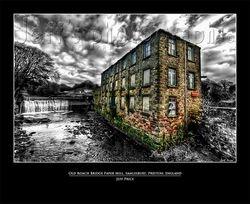 Old Roach Bridge Paper Mill, Samlesbury, Preston, England