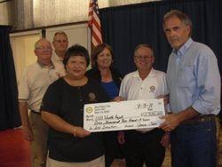 Dixon Rotary Club Donation