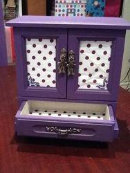 Purple with spotty fabric