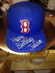 Red Sox Baseball Hat Cake