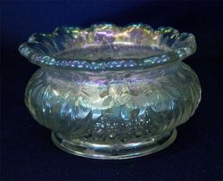 Cosmos and Cane 'ladies spittoon', in white, U.S. Glass