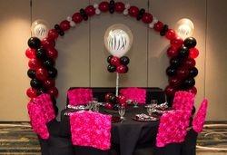 Sweet 16 w/ Balloon Columns & Arch