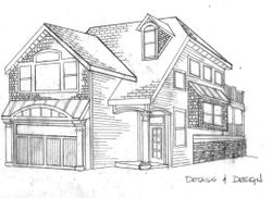 Hand Renderings of Lake Side Cottage