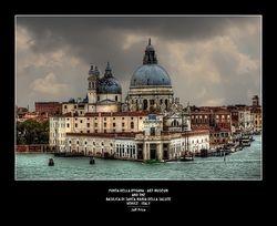 Punta Della Dogana - art museum and the Basilica Di Santa Maria Della Salute Venice - Italy