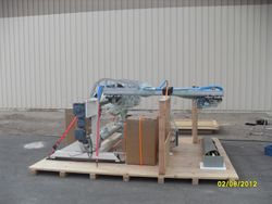 Panel flipping unit for Lockheed Martin
