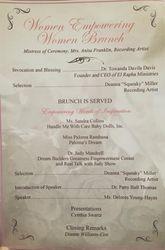 Program for WPE Brunch