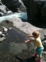 Playing in the Avenue of Giant Boulders