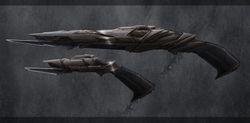 Klingon rifle and pistol