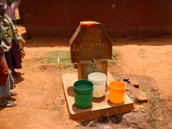 A shared water station