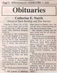 Norris, Catherine Elvin 2001