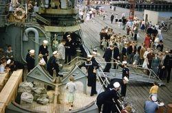 Icebreaker visit Lytellton 1955