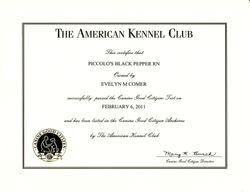 Pepper CGC certificate