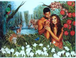 ADAM AND EVE TRANSGRESSED AND WAS PUT OUT THE GARDEN