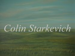"Evening Grassland (12 by 16"" oil on canvas)"