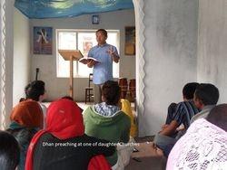 Dhan teaching in daughter church- 2011