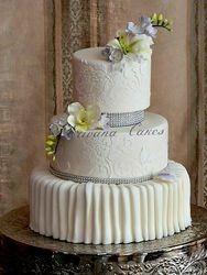 Damask wedding Cake 2