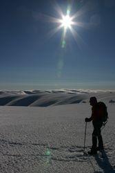 Snow shoeing Hawkduns