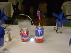 Table decorations--a 4th of July theme