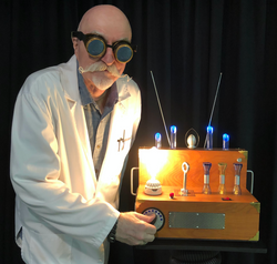 Prof Kazar adjusts his Flux Modulator