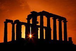 the Poseidon Temple, Sounio, Attica, Greece