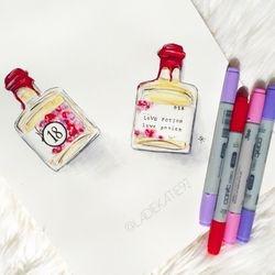 Perfume Illustration for Apothea & Co.
