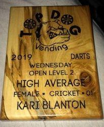 2019 plaque Top Dog