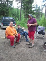 The guys around the fire Summer Solstice 21013