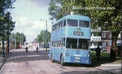 Bloxwich Trolly Bus.c1970s.