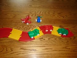 Plastic Cars With Road- Incomplete - $5