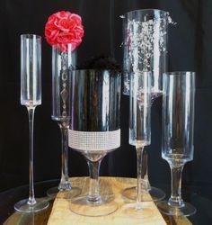Stemmed Cylinder Vases