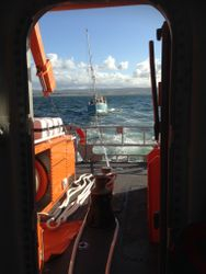 Portrush RNLI assist crew of broken down yacht at Portstewart
