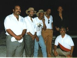 "Playing with ""The Drifters Baking Band"" at John Lee Hooker's back garden - Los Alto Hills CA 1997"