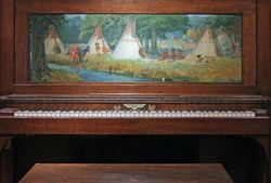 Deming, Indian Camp, Steinway Piano, 1903, Los Angeles, Autry Museum