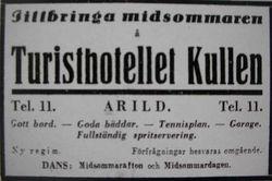 Turisthotellet Kullen 1933
