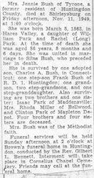 Bush, Jennie Park 1949