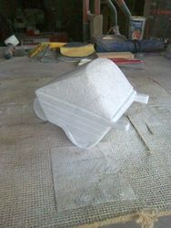 End veiw of my marble wheel barrow