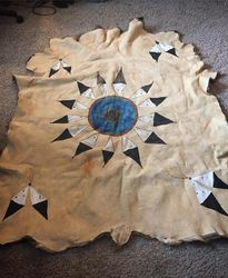 Warbonnet earth pigment paint elk hide