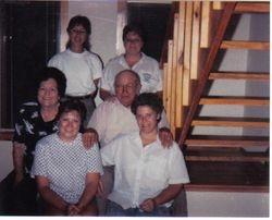 John Dunn with 2nd wife Evelyn Jones Hill. Vicky Lee Dunn, Susan Irene Dunn, April Love Dunn, Marilyn Kyde Dunn