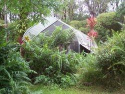 A quanset hut tent