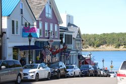 Main street of Bar Harbor