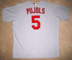 Albert Pujols 2008 (MVP Year) Game Used Road Jersey